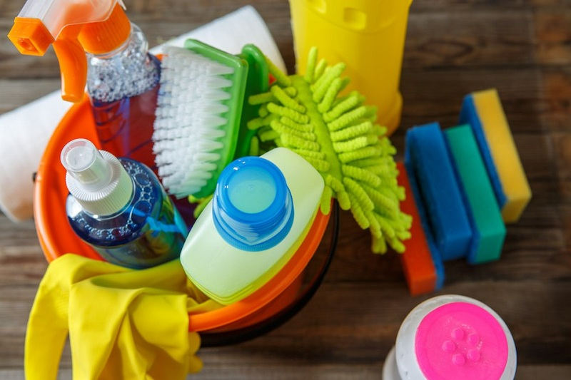 Cleaning Supplies And Materials